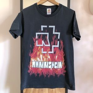 Vintage 90s 00s Rammstein Band Tee Shirt Y2K FOTL